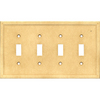 Somerset Collection 4-Gang Sahara Standard Toggle Cast Stone Wall Plate