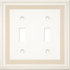 Somerset Collection Color Signatures 2-Gang Beige Standard Toggle Cast Stone Wall Plate