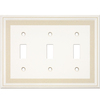 Somerset Collection Color Signatures 3-Gang Beige Standard Toggle Cast Stone Wall Plate