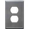 Somerset Collection 1-Gang Iron Standard Duplex Receptacle Metal Wall Plate