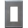 Somerset Collection 1-Gang Iron Decorator Single Receptacle Metal Wall Plate