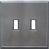 Somerset Collection 2-Gang Iron Standard Toggle Metal Wall Plate