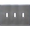 Somerset Collection 3-Gang Iron Standard Toggle Metal Wall Plate