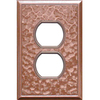 Somerset Collection 1-Gang Copper Standard Duplex Receptacle Metal Wall Plate