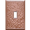 Somerset Collection 1-Gang Copper Standard Toggle Metal Wall Plate