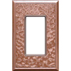 Somerset Collection 1-Gang Copper Decorator Single Receptacle Metal Wall Plate