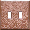 Somerset Collection 2-Gang Copper Standard Toggle Metal Wall Plate
