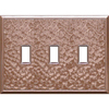 Somerset Collection 3-Gang Copper Standard Toggle Metal Wall Plate