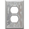 Somerset Collection 1-Gang Nickel Standard Duplex Receptacle Metal Wall Plate