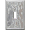 Somerset Collection 1-Gang Nickel Standard Toggle Metal Wall Plate