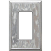 Somerset Collection 1-Gang Nickel Decorator Single Receptacle Metal Wall Plate