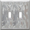 Somerset Collection 2-Gang Nickel Standard Toggle Metal Wall Plate