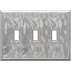 Somerset Collection 3-Gang Nickel Standard Toggle Metal Wall Plate