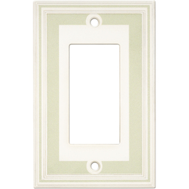 Somerset Collection Color Signatures 1-Gang Soft Sage Decorator Single Receptacle Cast Stone Wall Plate