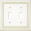 Somerset Collection Color Signatures 2-Gang Soft Sage Standard Toggle Cast Stone Wall Plate