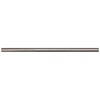 Somerset Collection Somerset Bright Nickel Cast Metal Pencil Liner Tile (Common: 1/2-in x 12-in; Actual: 0.5-in x 11.93-in)