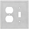 Somerset Collection Somerset 2-Gang Gray Combination Cast Stone Wall Plate