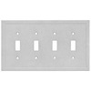 Somerset Collection Somerset 4-Gang Gray Standard Toggle Cast Stone Wall Plate