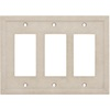 Somerset Collection Somerset 3-Gang Sand Decorator Cast Stone Wall Plate