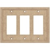 Somerset Collection Somerset 3-Gang Sienna Decorator Cast Stone Wall Plate