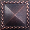 Somerset Collection Somerset Pyramid Deco Oil Rubbed Bronze Metal Square Accent Tile (Common: 2-in x 2-in; Actual: 1.87-in x 1.87-in)