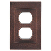 Somerset Collection Contemporary 1-Gang Oil Rubbed Bronze Standard Duplex Receptacle Metal Wall Plate