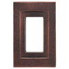 Somerset Collection Contemporary 1-Gang Oil Rubbed Bronze Decorator Single Receptacle Metal Wall Plate