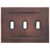 Somerset Collection Contemporary 3-Gang Oil Rubbed Bronze Wall Plate