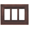Somerset Collection Contemporary 3-Gang Oil Rubbed Bronze Decorator Metal Wall Plate