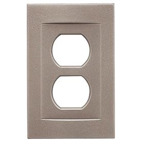 shop somerset collection contemporary 1 gang brushed nickel wall plate at. Black Bedroom Furniture Sets. Home Design Ideas