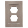 Somerset Collection Contemporary 1-Gang Brushed Nickel Standard Duplex Receptacle Metal Wall Plate