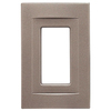 Somerset Collection Contemporary 1-Gang Brushed Nickel Decorator Single Receptacle Metal Wall Plate