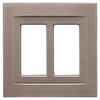 Somerset Collection Contemporary 2-Gang Brushed Nickel Decorator Rocker Metal Wall Plate