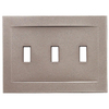 Somerset Collection Contemporary 3-Gang Brushed Nickel Standard Toggle Metal Wall Plate
