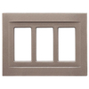 Somerset Collection Contemporary 3-Gang Brushed Nickel Decorator Metal Wall Plate