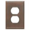 Somerset Collection Patina 1-Gang Bronze Patina Standard Duplex Receptacle Metal Wall Plate
