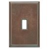 Somerset Collection Patina 1-Gang Bronze Patina Wall Plate