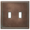 Somerset Collection Patina 2-Gang Bronze Patina Wall Plate