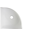 Somerset Collection Polished White Ceramic Corner Shelf Tile (Common: 6-in x 6-in; Actual: 5.5-in x 5.3-in)