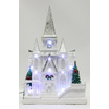 Holiday Living Resin Lighted White Church Christmas Collectible
