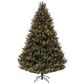 Holiday Living 7.5-ft Pre-Lit Fir Artificial Christmas Tree with White Lights