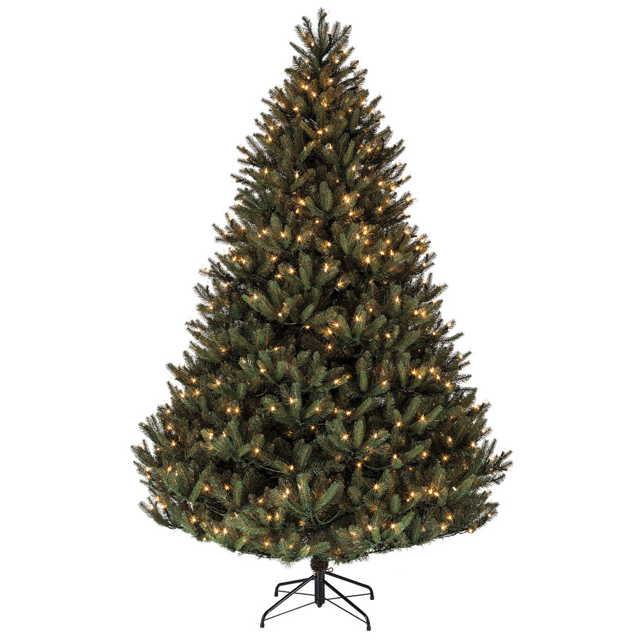 Shop holiday living 7 5 ft pre lit fir artificial christmas tree with
