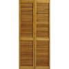 ReliaBilt 24-in x 79-in Louvered Solid Core Pine Interior Bifold Closet Door