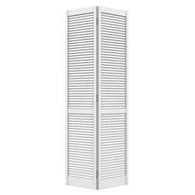 ReliaBilt (Primed) Hollow Core Full Louver Pine Bi-Fold Closet Interior Door (Common: 30-in x 80-in; Actual: 29.5-in x 79-in)