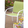 Style Selections Driscol White Steel Stackable Patio Dining Chair