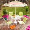 Garden Treasures 7-ft 7-in Striped Round Market Umbrella