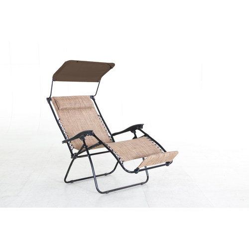 Foldable allen roth tenbrook patio chair with sun cover at for Allen roth tenbrook extruded aluminum patio chaise lounge