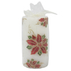 Holiday Living 6-in Cordless Poinsettia LED Candle Electric Pillar Candle