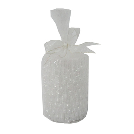 Holiday Living 4-in Cordless White LED Electric Pillar Candle