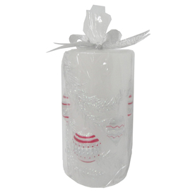 Holiday Living 6-in Cordless Red/Silver LED Electric Pillar Candle